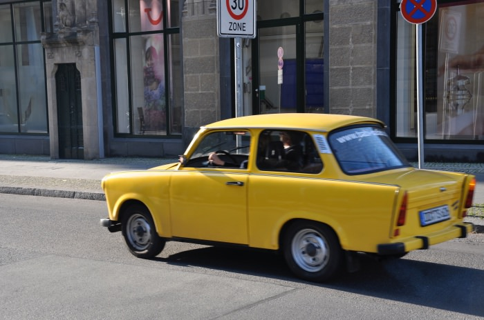 Berlin yellow car