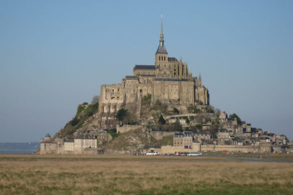 Almost alone in Mont Saint Michel, France