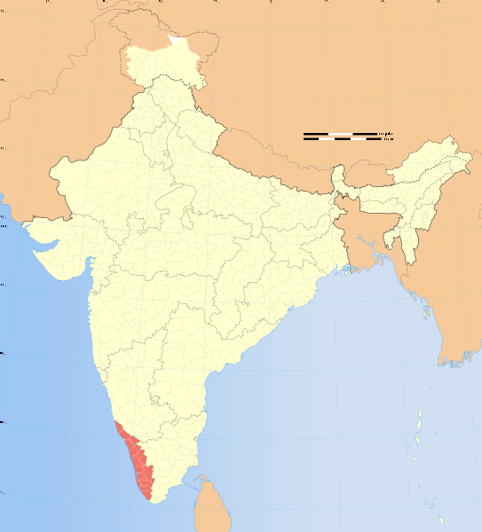 kerala map of India