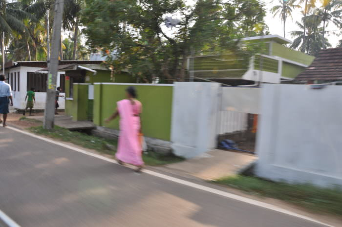 kerala woman in street