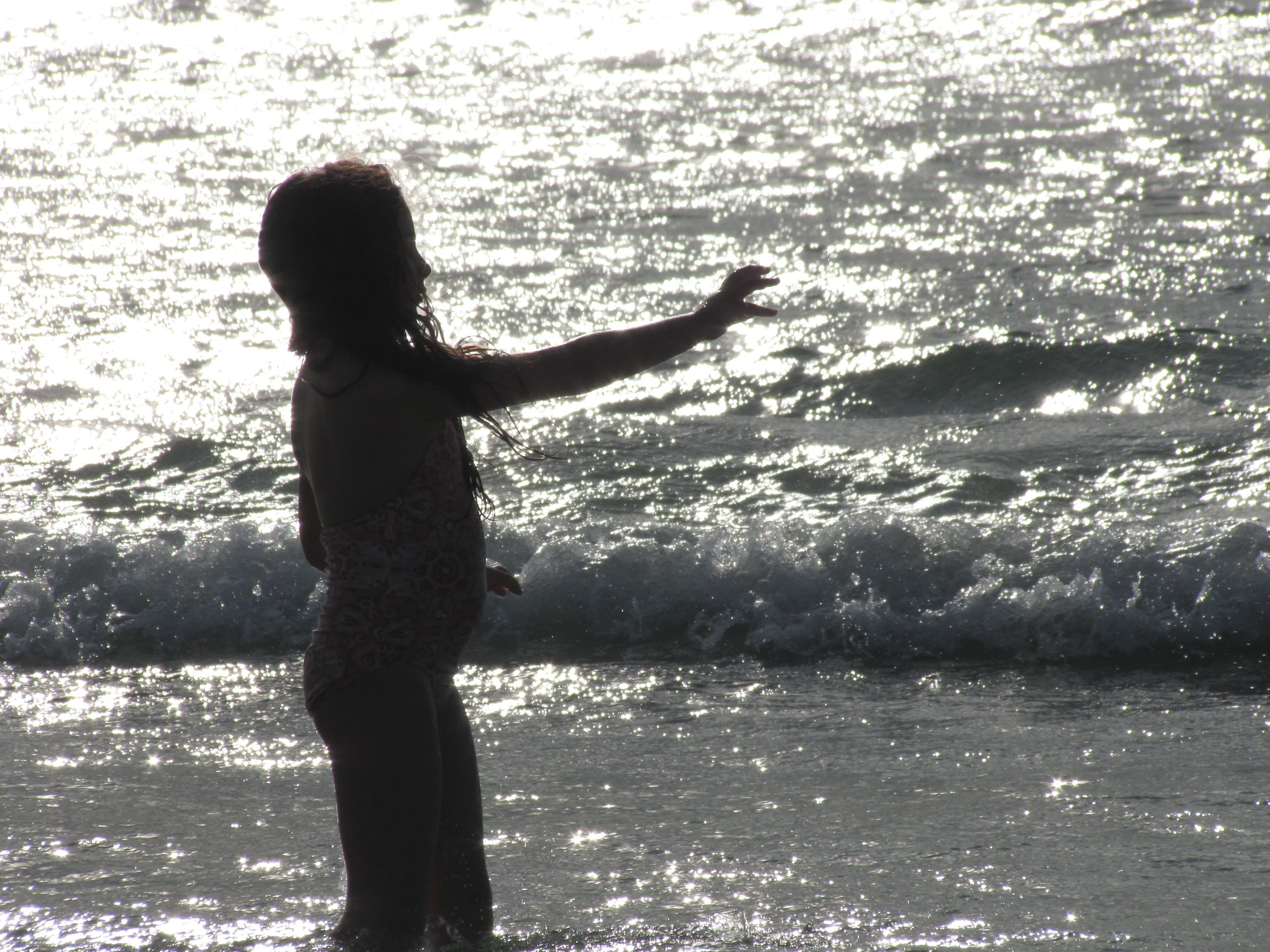 South Africa girl on beach