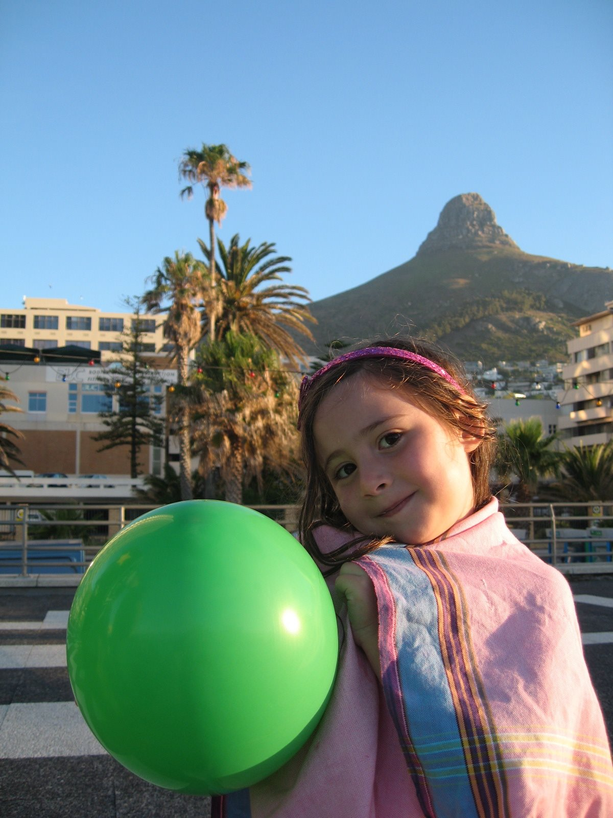South Africa girl with ball