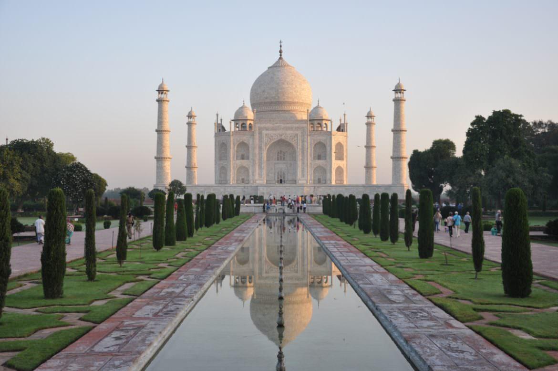 taj mahal reflection Agra India