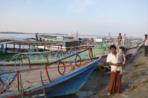 With the captain, Mandalay, Burma