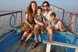 BozAround on the boat in Burma