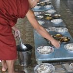 Lunch at the monastery, Burma