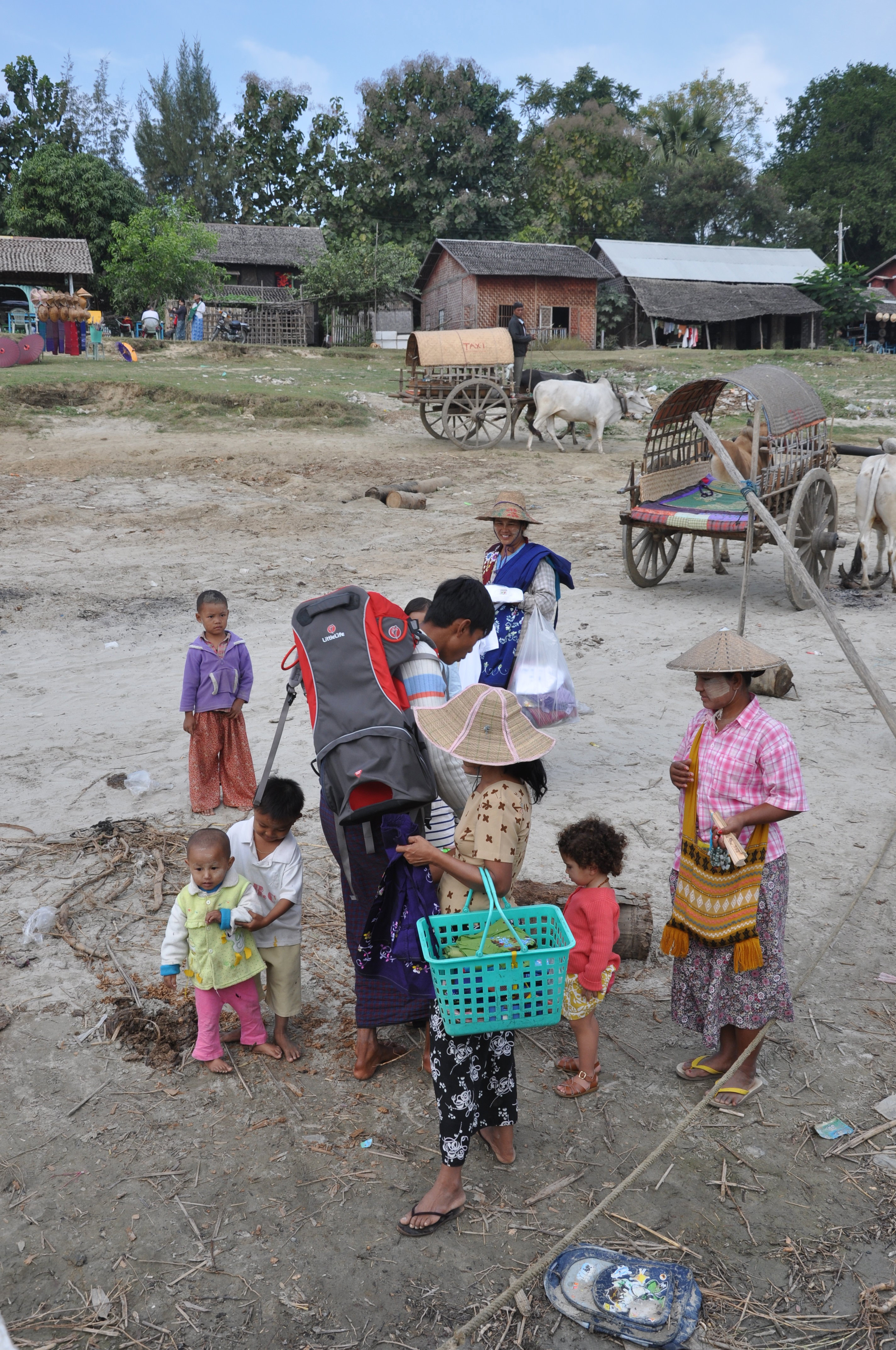 children in field