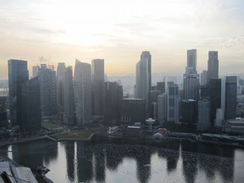 Singapore from Marina Bay Sands resort