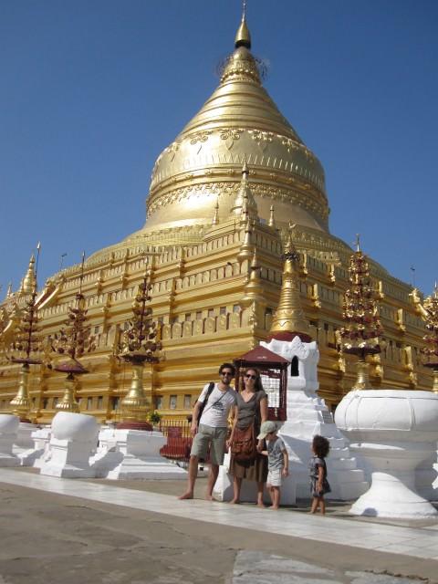 gold temple in burma