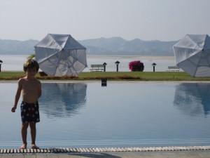 At the hotel in Bagan, Burma