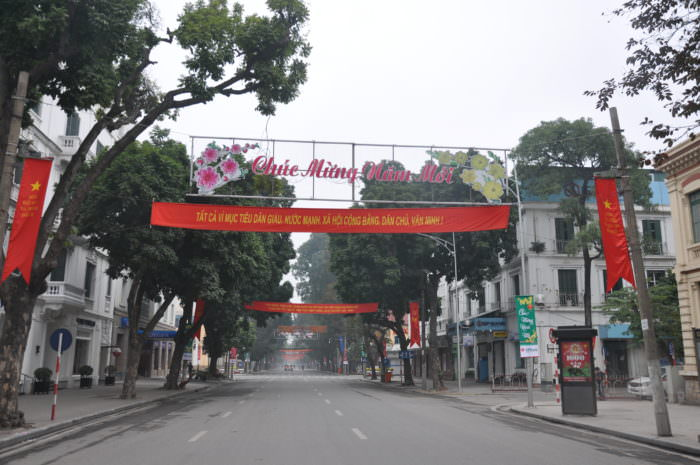 Hanoi streets during Tet holiday