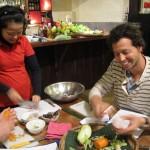 Ceki's first ever spring rolls, Vietnam