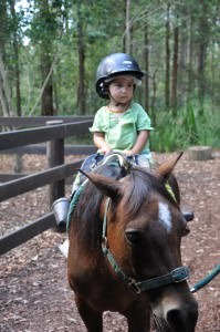Amalya poney riding at Australia zoo