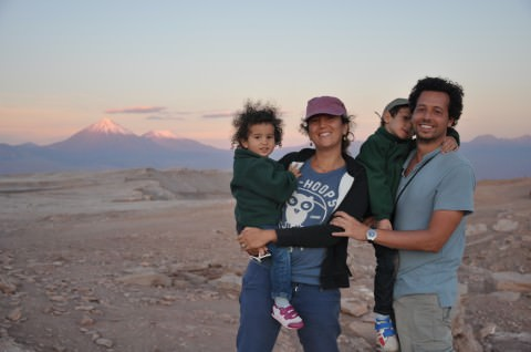 En famille in the Atacama desert