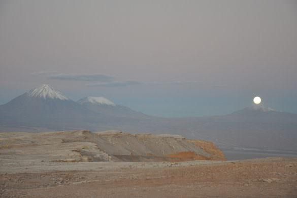 full moon in the atacama desert