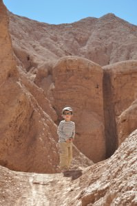 Climbing on Salt rocks, Atacama desert