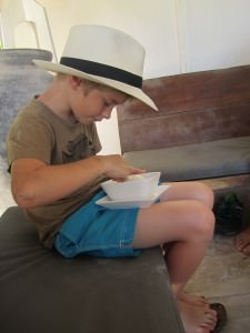 boy with hat, Tulum Mexico