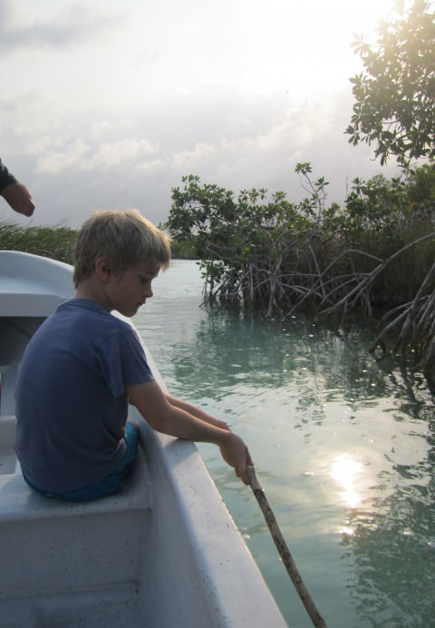 boy in boat, Mexico