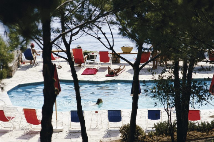 hotel il pellicano tuscany, photographed by Slim Aarons