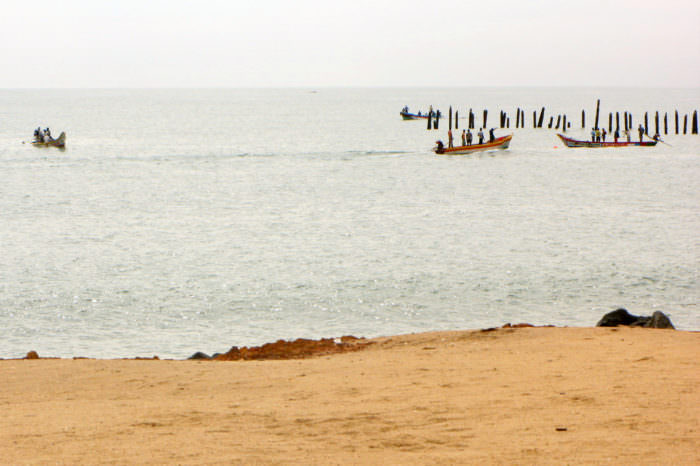 seashore in Pondicherry India