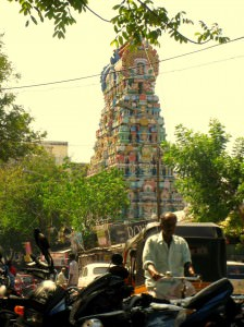 Indian temple, Pondicherry India