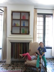 children at hotel in south of france, La Colombe d'Or