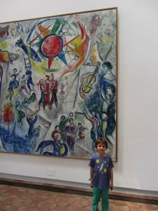Fondation Maeght, boy with painting, bozaround