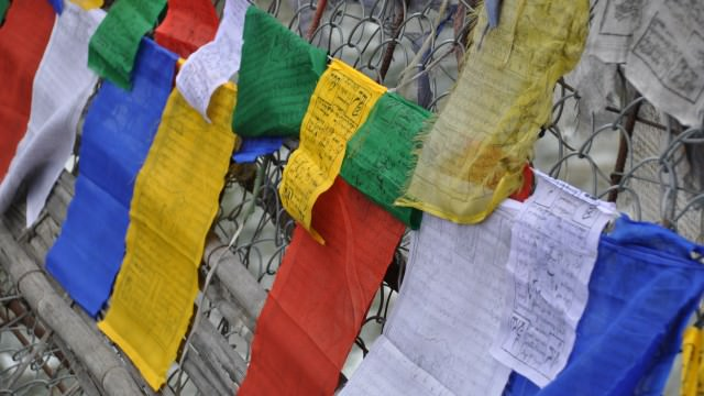 Budhist flags in Bhutan