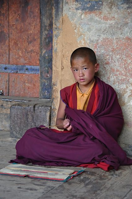 Young monk in Bhumtang