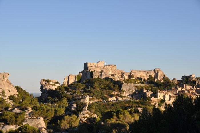 Les Baux medieval castle landscape picture