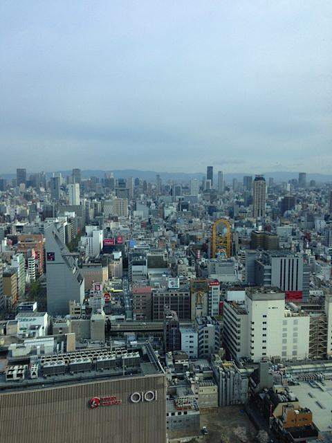 Osaka from the 33rd floor