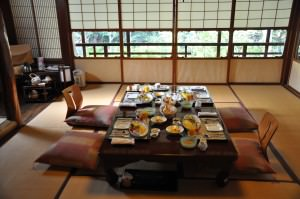 Breakfast at the ryokan