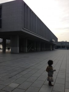 Amalya at the Peace memorial, Hiroshima