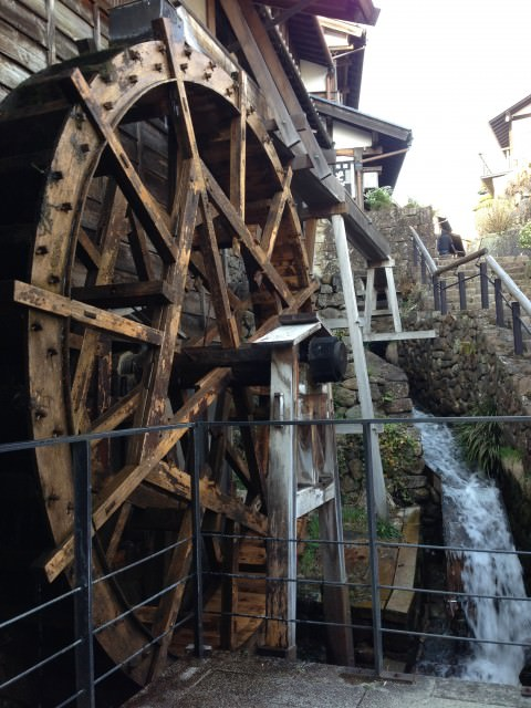 wheel in Kiso valley Japan