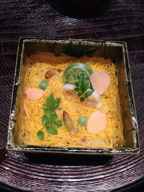 my dish at Kagura in Tokyo