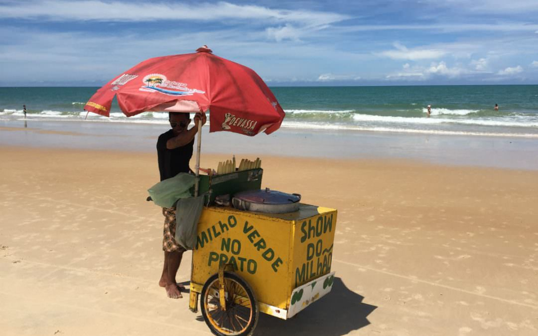Feet in the sand in Trancoso. Bahia, Brazil |1|