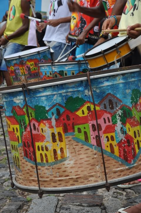 Batucada in the Pelourinho, Salvador de Bahia