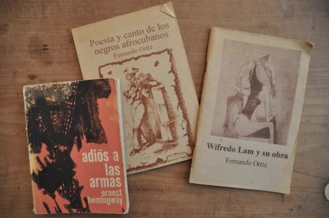 Vintage books from Cuba