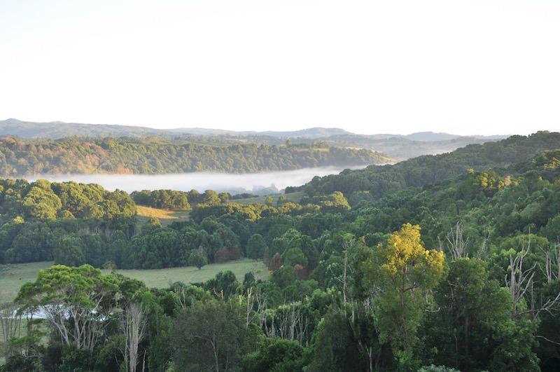 Byron Bay Australia morning mist