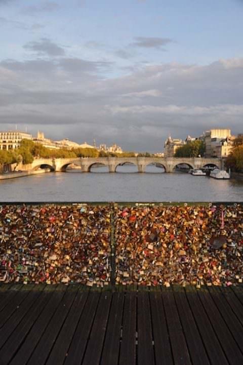 Paris lovers' bridge
