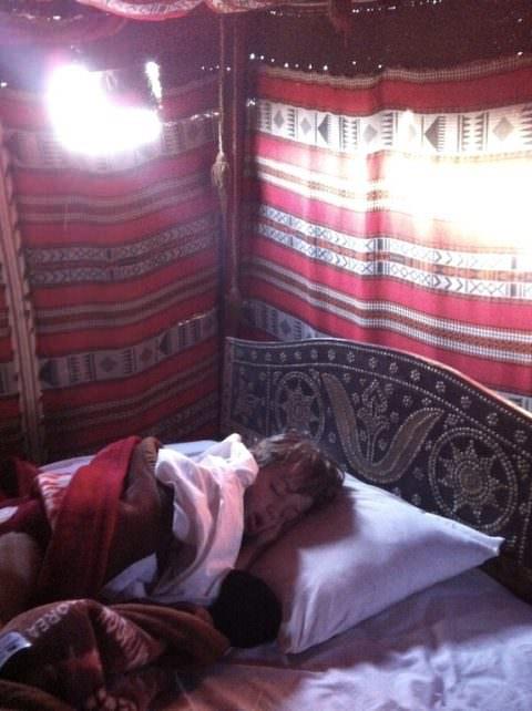 Sleeping in the desert Oman
