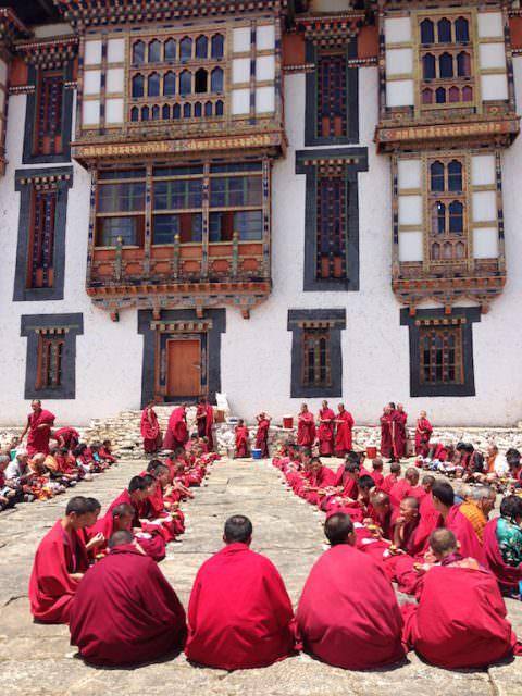 Lunch ceremony in Bhutan