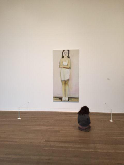 Amalya at the Marlene Dumas exhibit, Tate Modern London