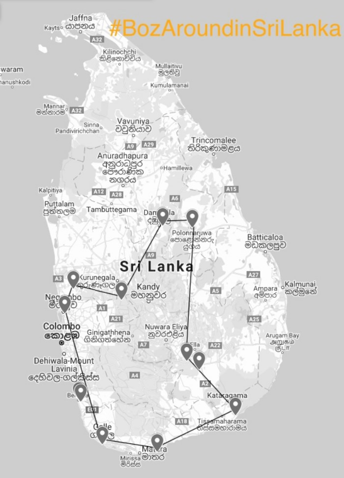 itinerary sri lanka easter
