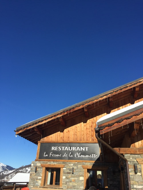 Restaurant Ferme de la chaumette on the slopes
