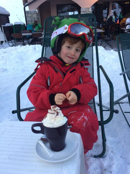 hot chocolate after skiing