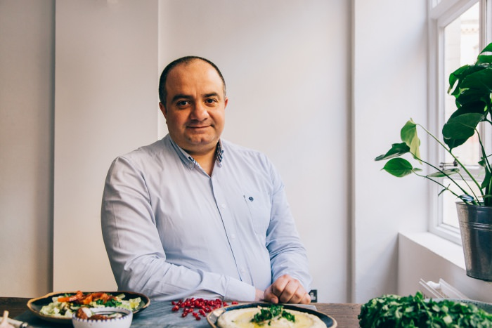 Chef and syrian refugee Imad Alarnab at work, Cook for Syria