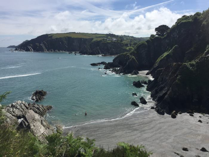 views from a detox hike in North Devon
