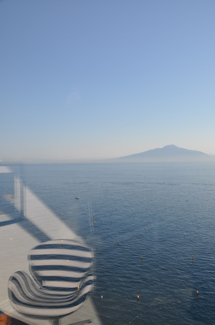 view from the room over the Vesuvius, in Sorrento
