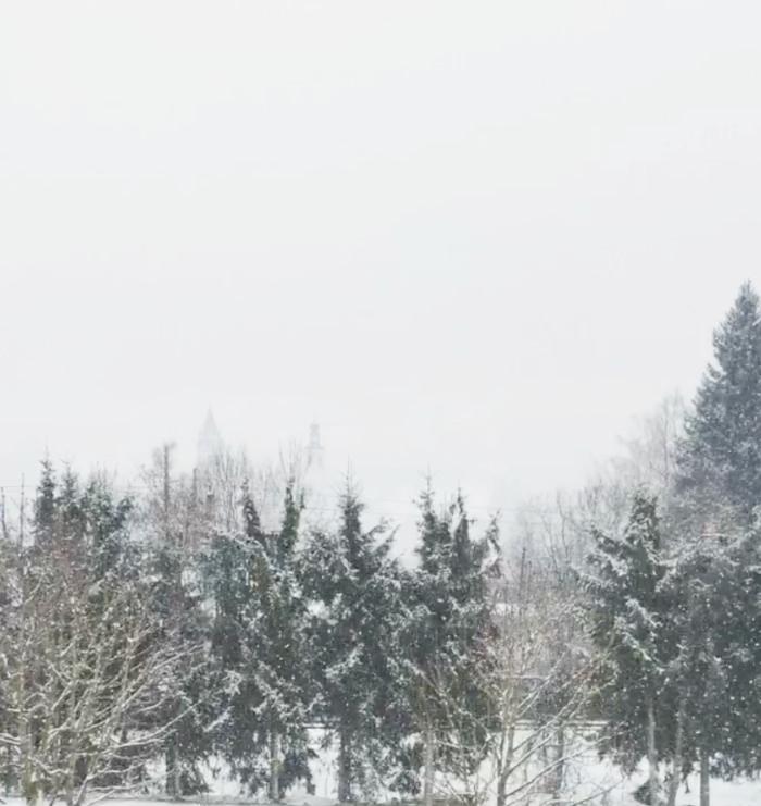 snow falling in Kitzbuhel, Austria